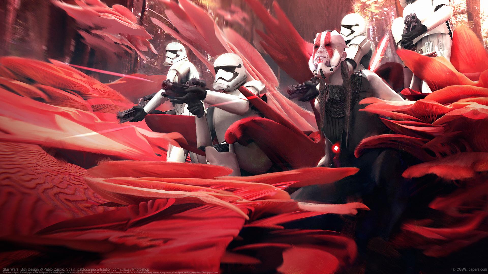 Pablo Carpio Hintergrundbild Star Wars Sith Design 1920x1080