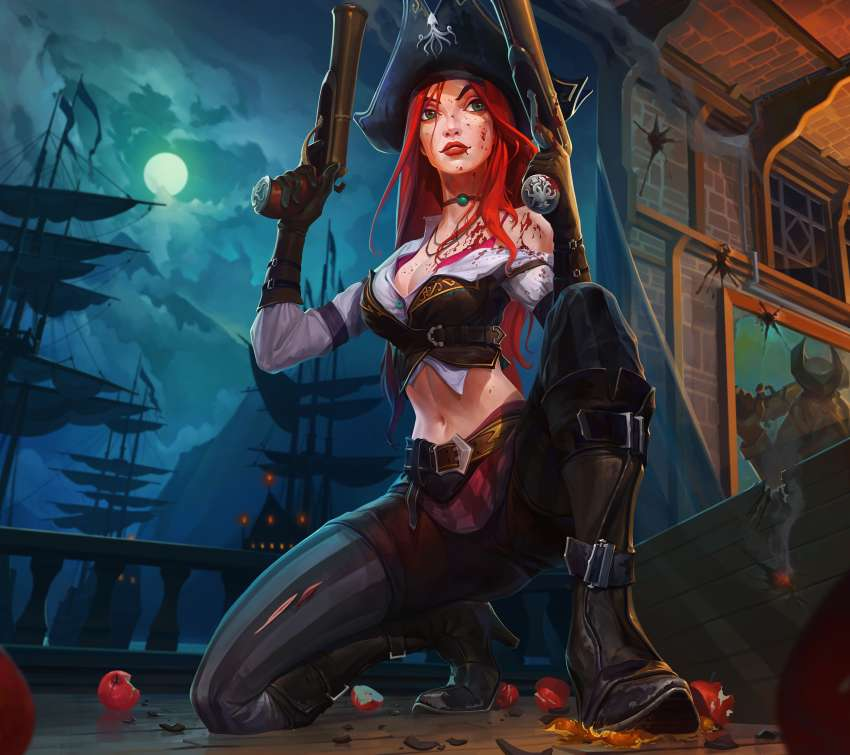 Miss Fortune fan art Handy Horizontal Hintergrundbild