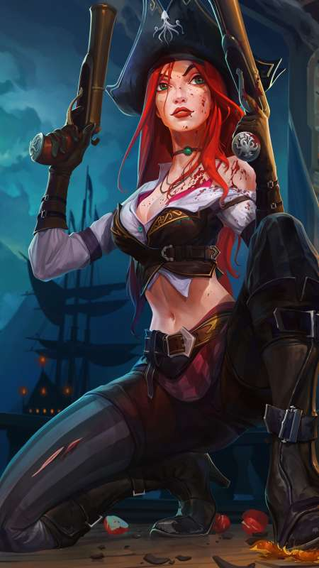 Miss Fortune fan art Handy Vertikal Hintergrundbild
