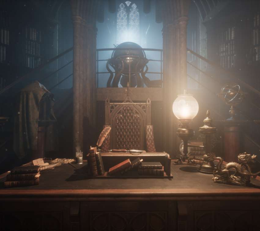 UE4 Dumbledore's office Handy Horizontal Hintergrundbild