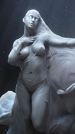 Creature Design: Pale Night Handy Vertikal Hintergrundbild
