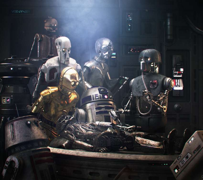 Star Wars meets Rembrandt Handy Horizontal Hintergrundbild