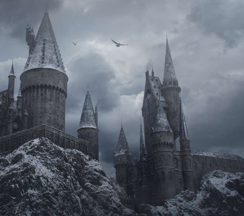 Hogwarts in the Snow Handy Horizontal Hintergrundbild