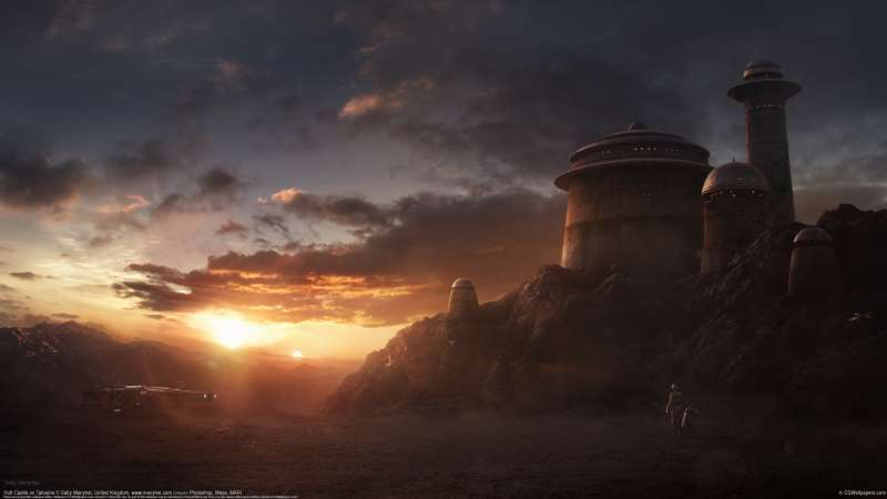 Hutt Castle on Tatooine Hintergrundbild