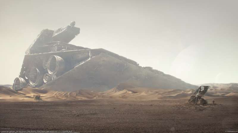 Crashed Star Destroyer - Star Wars fan art Hintergrundbild