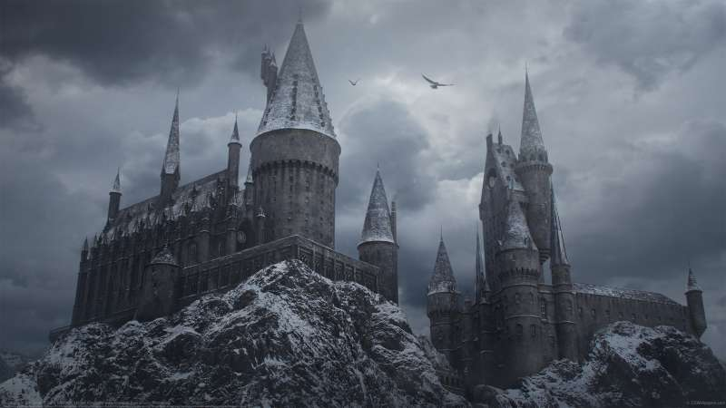 Hogwarts in the Snow Hintergrundbild
